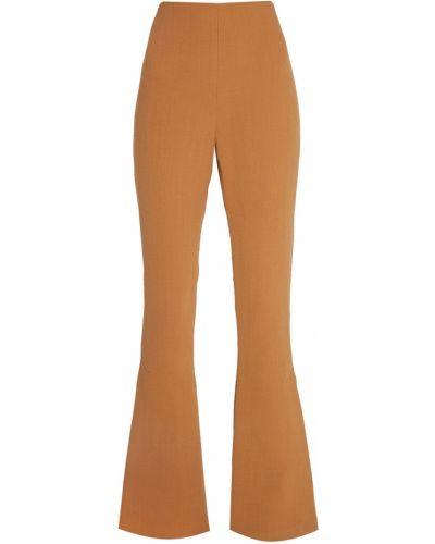 Облегающие шерстяные бежевые брюки A.w.a.k.e.