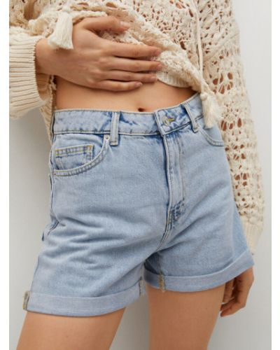 Szorty jeansowe - niebieskie Mango