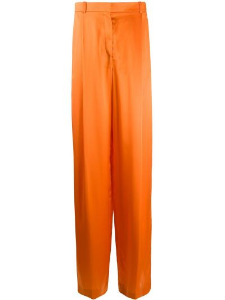 Оранжевые свободные брюки с карманами свободного кроя с высокой посадкой Nina Ricci