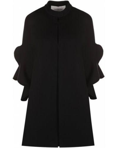 Накидка черная шерстяная Valentino