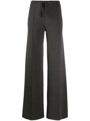 С завышенной талией серые брюки с карманами Mrz