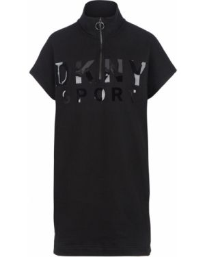 Платье черное с принтом Dkny