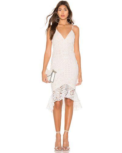 Biały z paskiem sukienka midi z zamkiem błyskawicznym na paskach Superdown