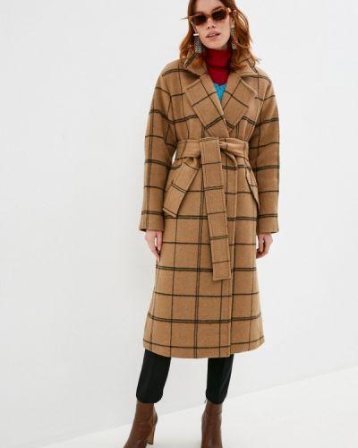 Коричневое пальто Twinset Milano