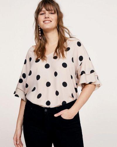 Бежевая блузка Violeta By Mango