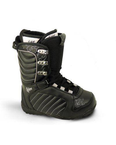 Мягкие черные ботинки c сапфиром Spice