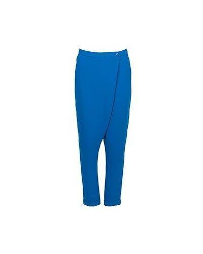 Голубые брюки из полиэстера Moschino Love