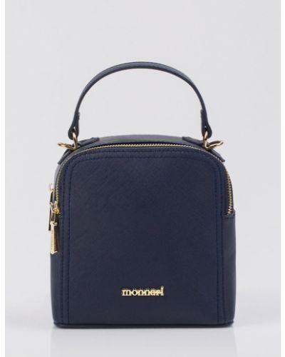 Кожаная сумка - синяя Monnari