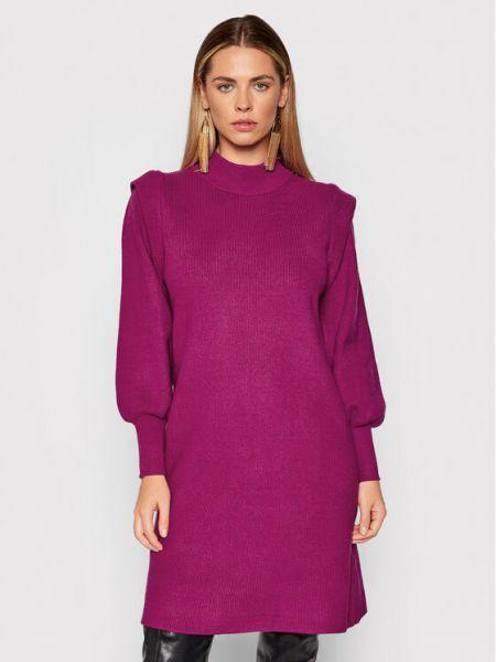 Fioletowa sukienka dzianinowa Silvian Heach