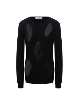 Шерстяной пуловер - черный Jw Anderson