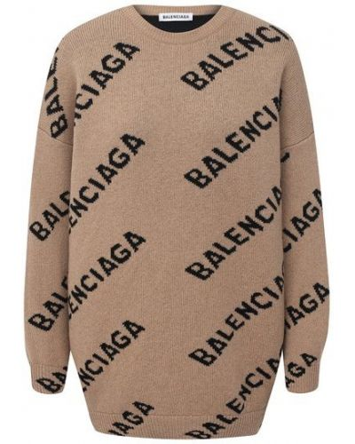 Бежевый шерстяной свитер Balenciaga