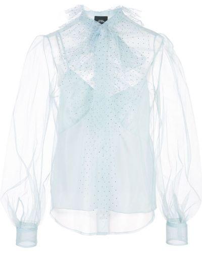 Блузка с длинным рукавом с бантом прозрачная Marc Jacobs
