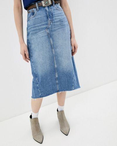 Синяя джинсовая юбка Polo Ralph Lauren