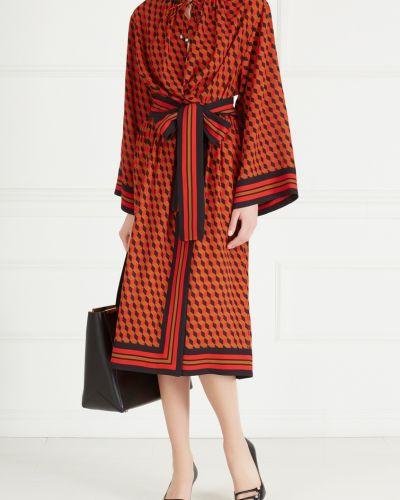 Платье с поясом шелковое Michael Kors Collection