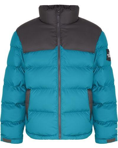 Стеганая куртка зеленая с манжетами The North Face