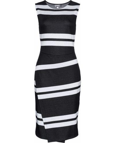 Платье макси в полоску облегающее Bonprix