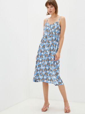Голубое сарафан летнее Gloss