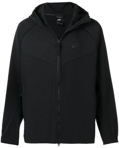 Куртка с капюшоном черная на молнии Nike