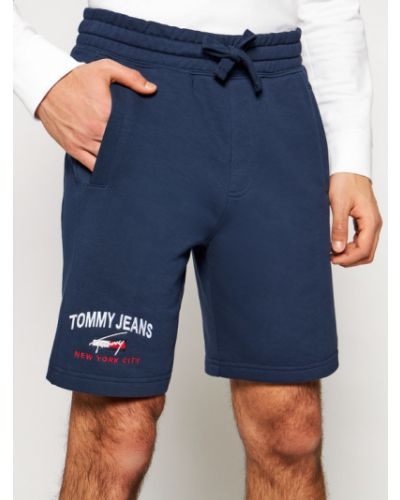 Szorty jeansowe sportowe granatowe Tommy Jeans