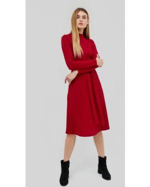 Приталенное платье миди с рукавом реглан эластичное Cardo