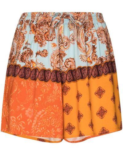 Прямые оранжевые шорты с карманами Esteban Cortazar