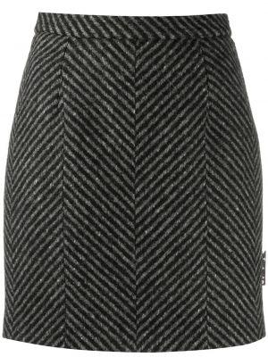 С завышенной талией прямая черная юбка мини Off-white