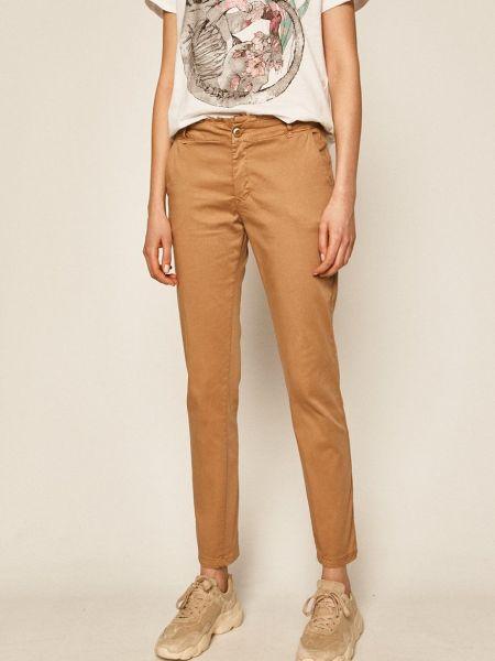 Бежевые брюки с карманами бохо Medicine