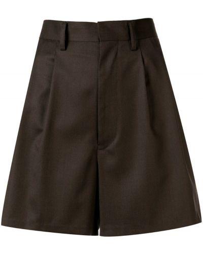 Коричневые короткие шорты с карманами Junya Watanabe