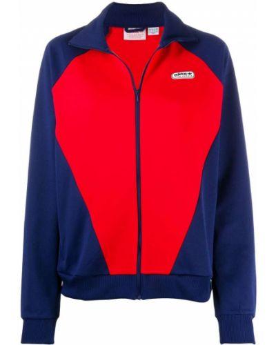 Красная классическая спортивная куртка с нашивками на молнии Adidas X Lotta Volkova