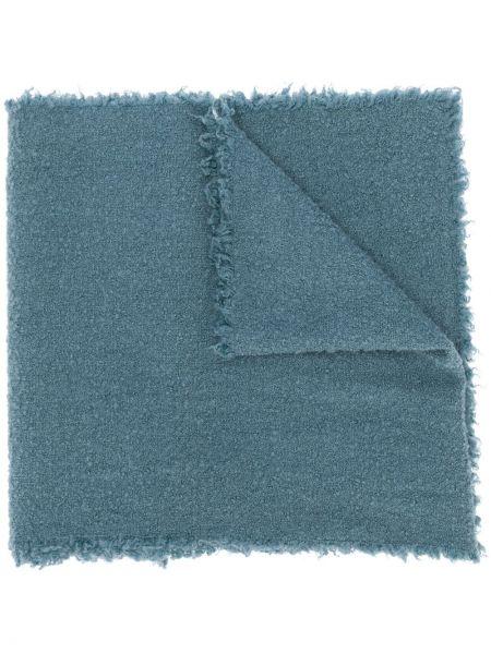 Wełniany niebieski trykotowy szalik przycięte Faliero Sarti