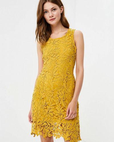 Платье осеннее желтый By Swan