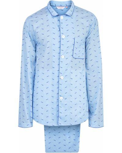 Пижама на пуговицах с принтом Derek Rose