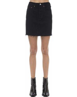 Джинсовая юбка мини - черная Levi's Red Tab