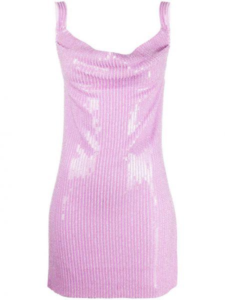 Фиолетовое платье без рукавов Misha Collection