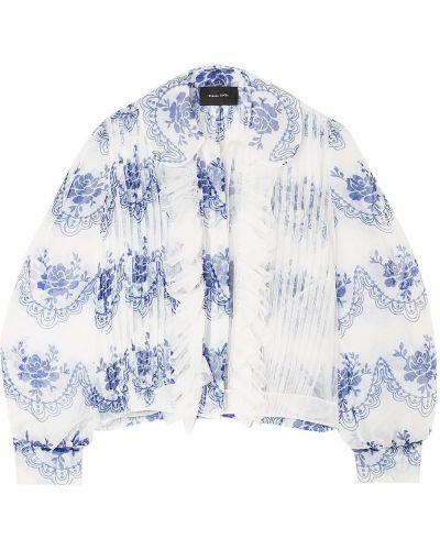 Белая куртка с карманами на пуговицах Simone Rocha