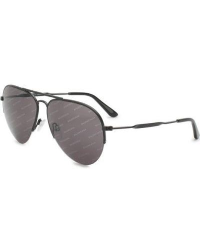 Солнцезащитные очки стеклянные металлические Balenciaga
