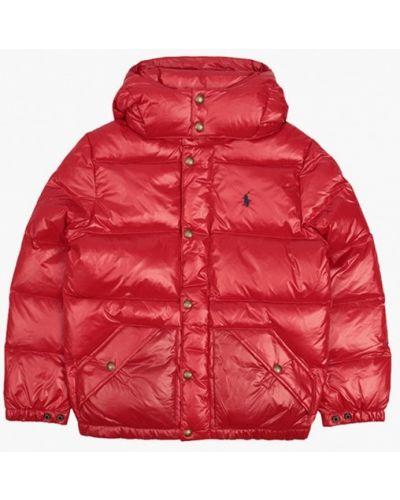 Красный пуховик Polo Ralph Lauren