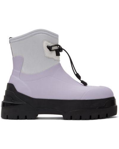 Черные ботинки на каблуке круглые Moncler Genius