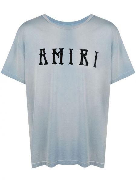 Koszula krótkie z krótkim rękawem prosto z nadrukiem Amiri