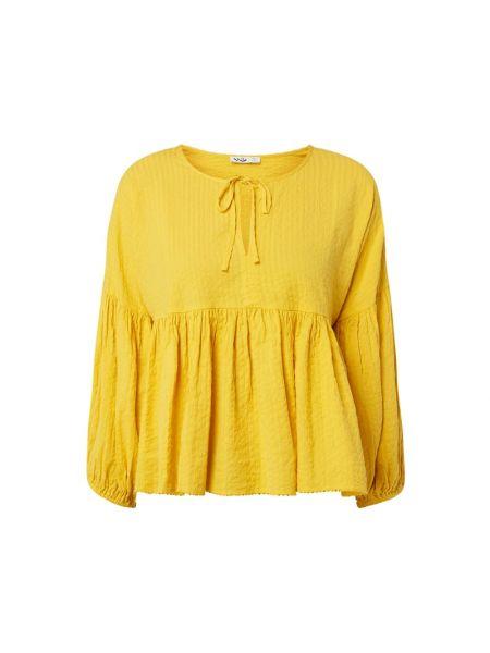 Żółta bluzka bawełniana z dekoltem w serek Ltb