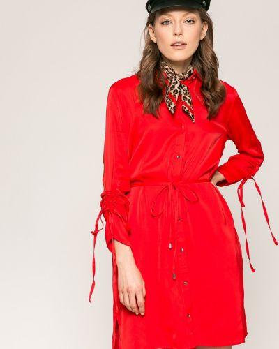 Платье мини на пуговицах свободного кроя Answear