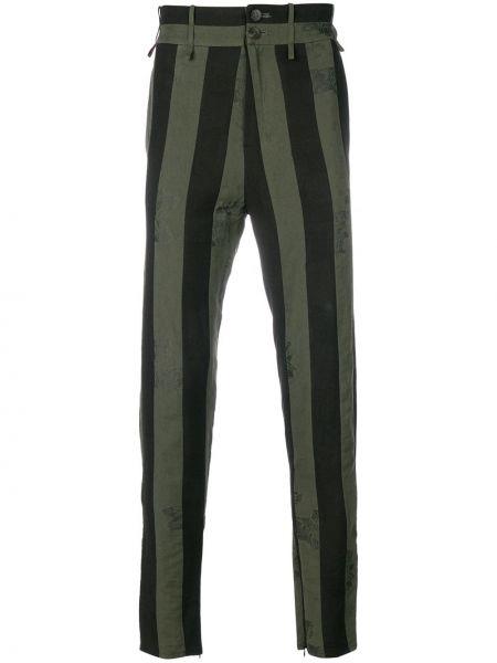 Czarne spodnie w paski bawełniane Damir Doma
