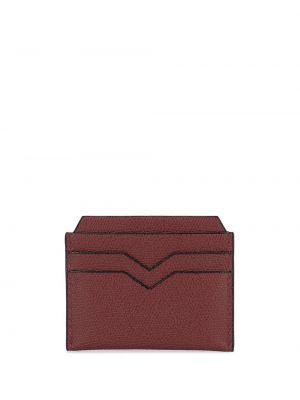 Czerwony portfel skórzany Valextra
