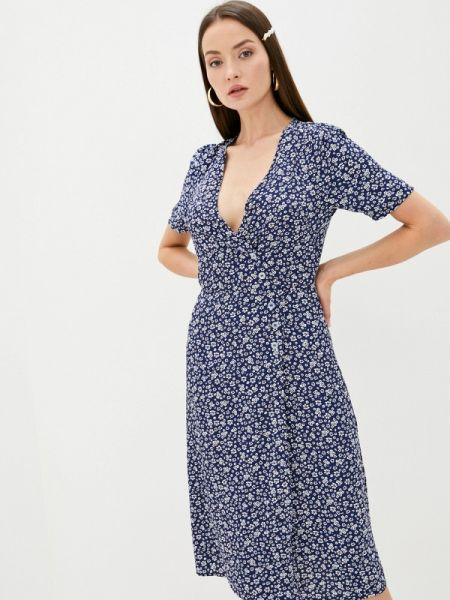 Однобортное синее платье Sweewe