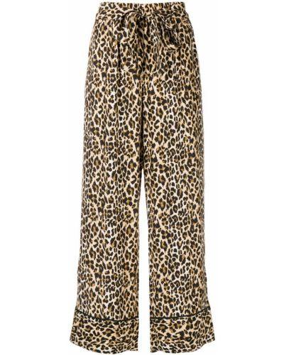 Свободные брюки шелковые с завязками Gold Hawk