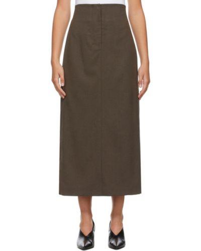 Коричневая классическая юбка с подкладкой Low Classic