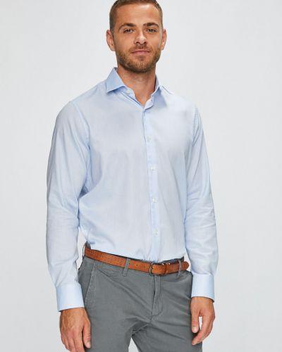 Рубашка с длинным рукавом однотонная хлопковая Pierre Cardin