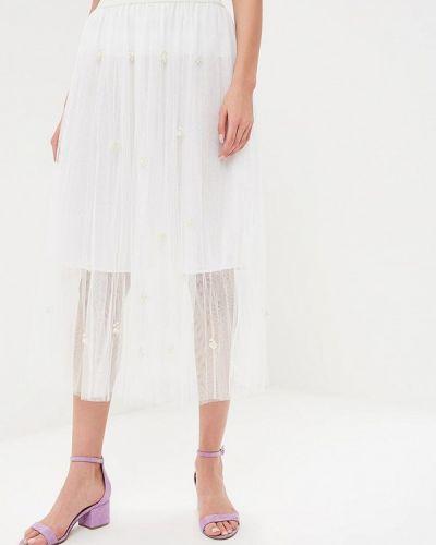 Белая юбка весенняя Paccio