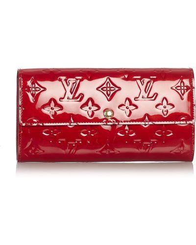 Czerwony portfel skórzany Louis Vuitton Vintage
