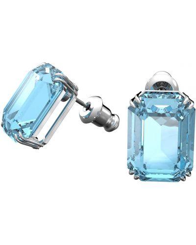 Голубые серьги-гвоздики Swarovski